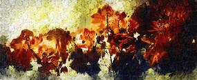 花卉艺术装饰画