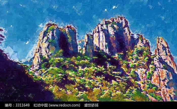 山峰装饰画图片