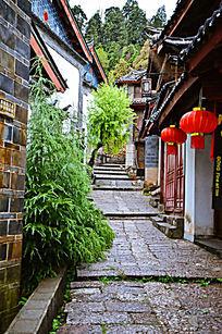 丽江古城的居民楼