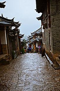 丽江古城石阶小路