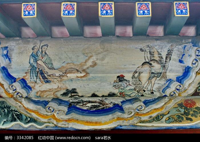 白马士兵女将仙人仙女图片,高清大图_古代字画素材