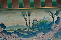 白杨笔直宝塔寺山野绿树