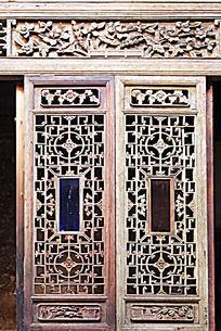 徽州木雕花窗门