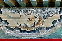 松树与大鸟飞禽鸟类翅膀松针