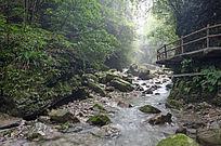 襄阳保康县五道峡景区溪流