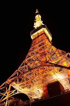 45度仰望东京塔