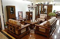 实木客厅沙发组合