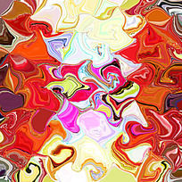 抽象 数码印花 现代装饰画