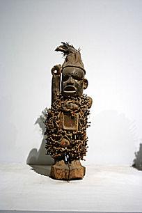 非洲木雕人像精品