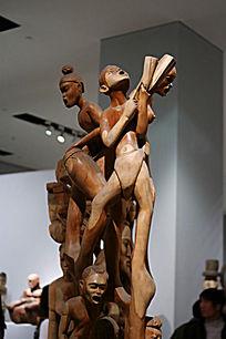 非洲男女群像