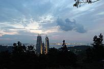 鸟瞰新加坡全景