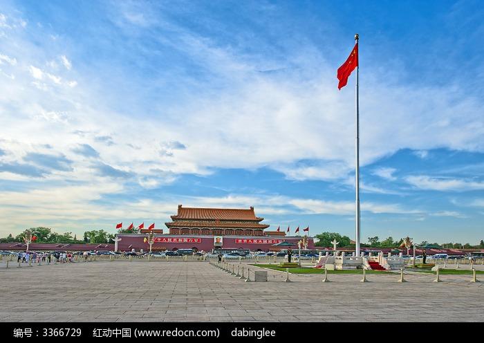 天安门广场侧面图片