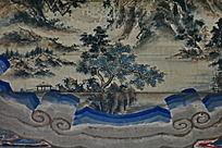 松树凉亭山水 群山河流