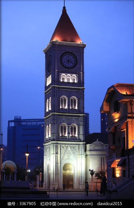 天津意式风情街欧式钟楼图片