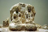 白石释迦多宝佛坐像