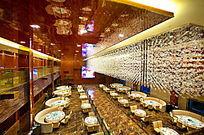 酒店餐厅俯视图