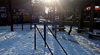 雪后的小区