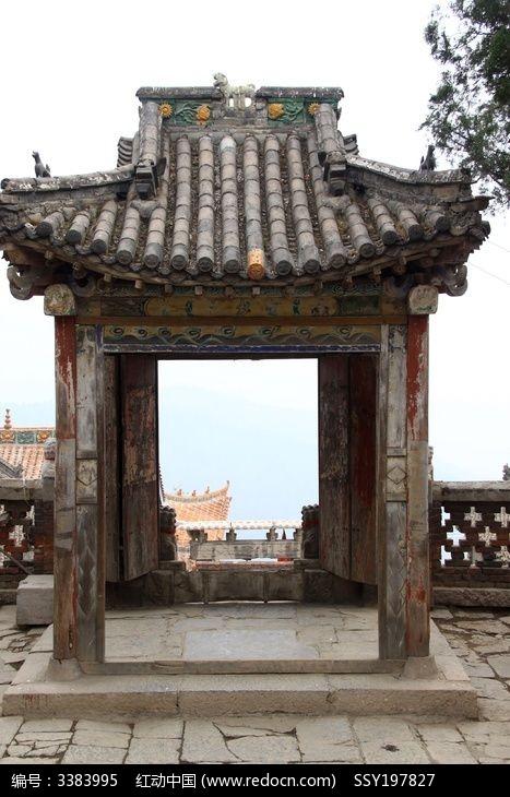 中式古建筑门楼图片