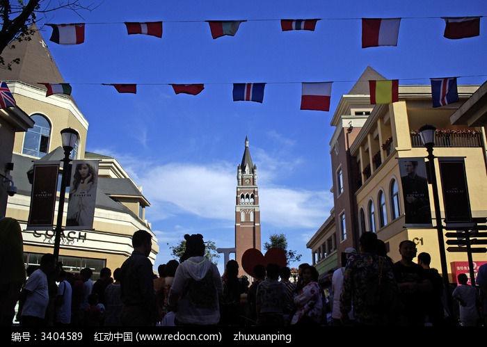 国际小镇的欧式建筑群图片