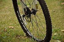 自行车车轮特写