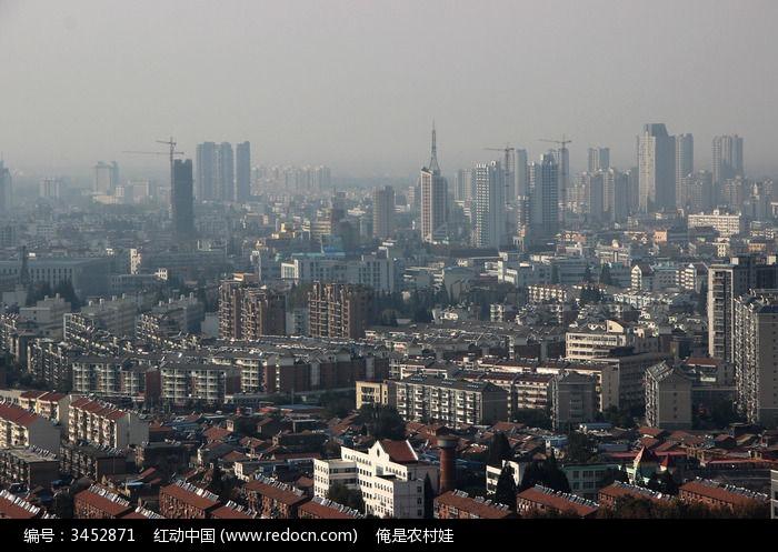 原创摄影图 建筑摄影 城市风光 俯拍城市房屋建筑