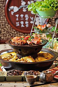鸡煲鸭煲火锅食材