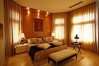 温馨双人卧室摄影图