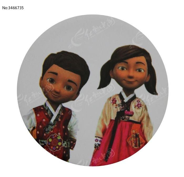 韩服儿童装饰品图片,高清大图_插画绘画素材