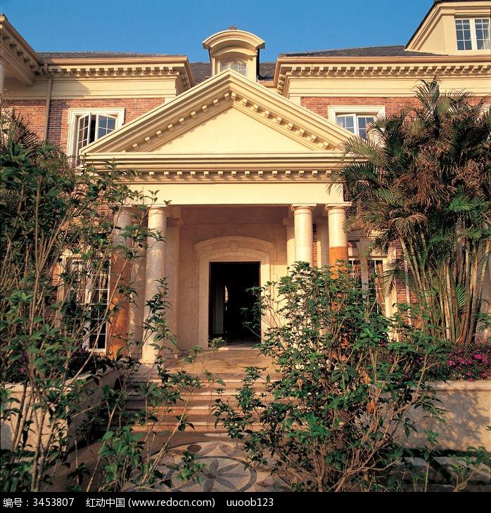 别墅外观图片 建筑摄影图片