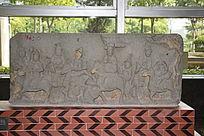 古代骑马人物大理石浮雕