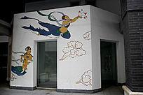 古代人物墙体彩绘
