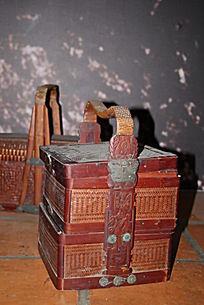 古代文物竹篮