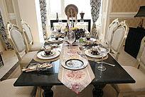 室内装饰用餐画面图