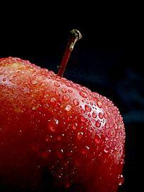近摄红苹果局部图片