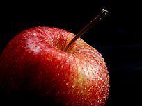近摄一个红苹果局部图片