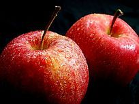 两个红苹果局部图片