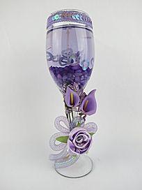 紫色玫瑰蜡烛台 高清婚庆蜡烛台 喜庆蜡烛