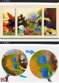 三联装饰画 抽象油画