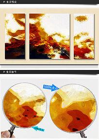 抽象画 三联抽象画 装饰画