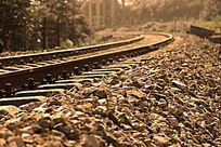 怀旧铁轨路基