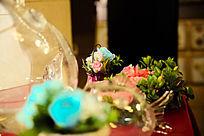 婚礼现场的花