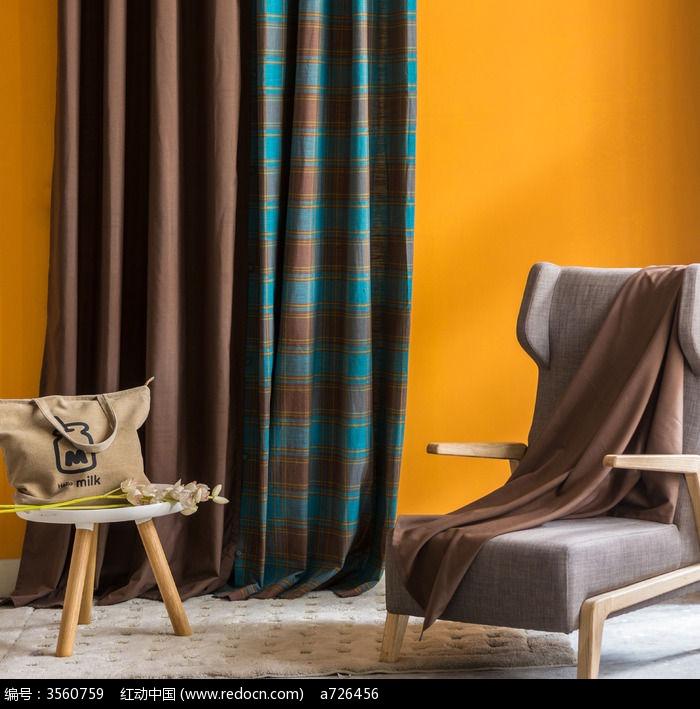 布艺-时尚单身公寓布置的一隅高清图片下载 编号3560759 红动网图片