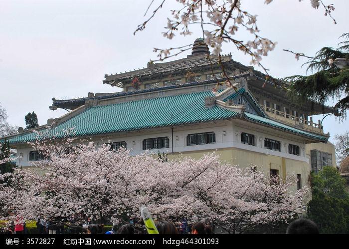 武汉大学古建筑和樱花图片