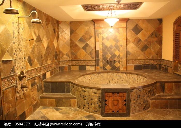 高档室内石材装饰浴室