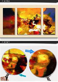 三联抽象画 抽象油画
