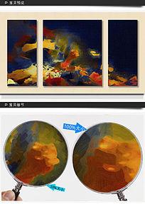三联抽象画 三联装饰画