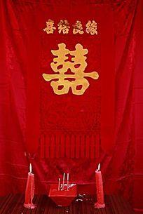 中国婚礼贡桌摆设