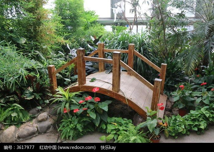 园林小桥景观手绘