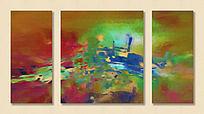 抽象油画 三联画