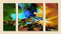 三联装饰画 抽象画